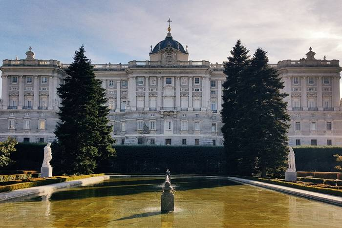 The Jardines de Sabatini just next to the Royal Palace in Madrid